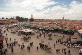 Djemma el fna Square in Marrakech (Morocco) — Stock Photo