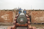 Cannon in the fortress in Essaouira — Stock Photo