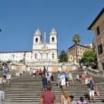 罗马西班牙台阶 — 图库照片