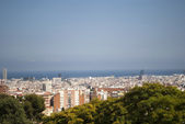 Aereal view of Barcelona, Spain — Stock Photo