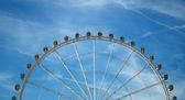 Pohled na velké kolo v zaragoza, španělsko — Stock fotografie