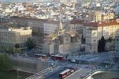 Aerial view of Zaragoza, Spain — Stock Photo
