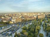 Aerial view of Zaragoza,Spain — Stock Photo