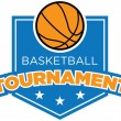 Basketball Tournament Badge — Stock Vector