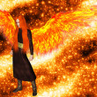 Angel of the flame — Stock Photo #21720075