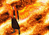 Angel of the flame — Stock Photo