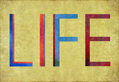 """Earthy background and design element depicting the word """"life"""" — Stock Photo"""