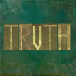 "Earthy background image and design element depicting the word ""truth"" — Stock Photo"