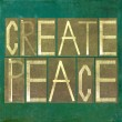 "Earthy background and design element depicting words ""create peace"" — Stock Photo #25563619"