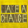 "Earthy background image and design element depicting the words ""Make a change"" - Stock Photo"