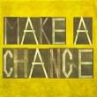 "Stock Photo: Earthy background image and design element depicting words ""Make change"""