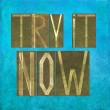 "Earthy background image and design element depicting the words ""Try it now"" — Stock Photo #25566369"