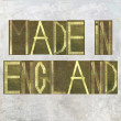 "Earthy background image and design element depicting the words ""Made in England"" — Stock Photo"
