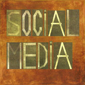 Earthy background image and design element depicting the word Social media — Stock Photo