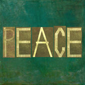 "Earthy background image and design element depicting the word ""Peace"" — Stock Photo"