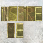 """Earthy background image and design element depicting the words """"Inspire me"""" — Stock Photo"""