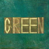 "Earthy background image and useful design element depicting the word and colour ""green"" — Stock Photo"