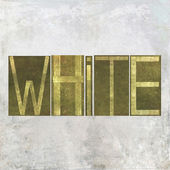 "Earthy background image and useful design element depicting the word and colour ""white"" — Stock Photo"