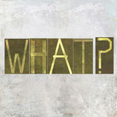 "Earthy background and design element depicting the word ""what"" — Stock Photo"