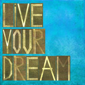 """Earthy background and design element depicting the words """"Live your dream"""" — Stock Photo"""