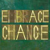 """Imagem fundo da terra e dos elementos do projeto que descreve as palavras """"mudança abraço"""" — Foto Stock"""