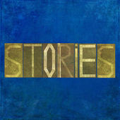 "Earthy background image and design element depicting the word ""stories"" — Stock Photo"