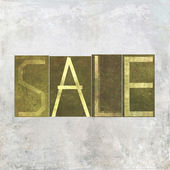 "Earthy background image and design element depicting the words ""Sale"" — Stock Photo"