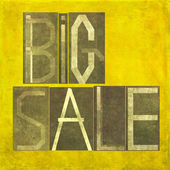 "Earthy background image and design element depicting the words ""Big sale"" — Stock Photo"