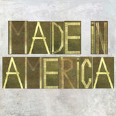 "Earthy background image and design element depicting the words ""Made in America"" — Stock Photo"