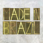 """Earthy background image and design element depicting the words """"Made in Brazil"""" — Stock Photo"""