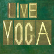 "Words ""Live Yoga"" — Stock Photo"