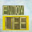 "Design element depicting the words ""Enjoy life"" — Stock Photo"