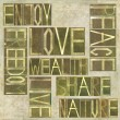 "Stock Photo: Words ""Enjoy Freedom Love Peace Wealth Live Share Nature"""