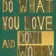 """Words """"Do what you love and don't worry"""" — Stock Photo #31241755"""