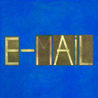 "Design element depicting the term ""E-mail"" — Stock Photo"