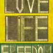 Words Love Life Freedom — Stock Photo