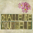 "Stock Photo: Words ""Challenge yourself"""