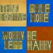 Collage of positive messages — Stock Photo