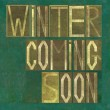 "Words ""Winter coming soon"" — Stock Photo"
