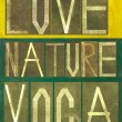 Words Love Nature Yoga — Stock Photo