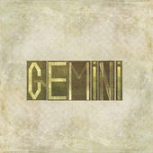 "Word ""Gemini"" on earthy textured background — Stock Photo"