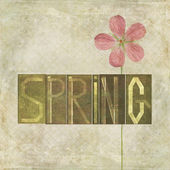 "Word ""Spring"" — Stock Photo"