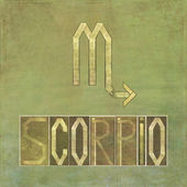 "Symbol for the zodiac sign ""Scorpio"" — Стоковое фото"