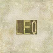 """Elemento di disegno raffigurante la parola """"leo"""" — Foto Stock"""
