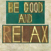"""词语""""是好的放松"""" — 图库照片"""