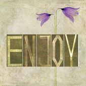 "Word ""Enjoy"" — Stock Photo"
