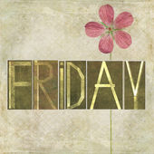 "Design element depicting the word ""Friday"" — Stock Photo"