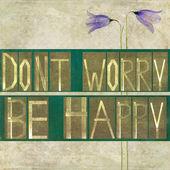 """Kelime """"yok endişe mutlu"""" — Stok fotoğraf"""