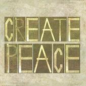 "Words ""Create peace"" — Stock Photo"