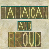 "Words ""Jamaican and proud"" — Stock Photo"